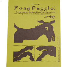 The Pony Puzzle: Green Card - Paper Puzzles