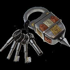 5 Key Iron Puzzle Lock -