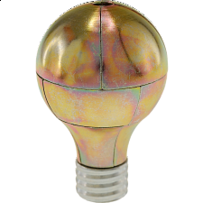 Magnetic Light Bulb Puzzle - Gold - Other Wire / Metal Puzzles