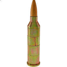 Magnetic .50 Caliber Bullet Puzzle - Gold (Realistic) - Search Results