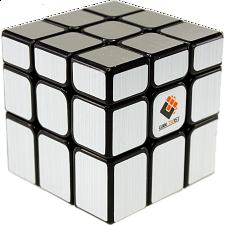 Unequal 3x3x3 Cube - Black Body in Silver Stickers -