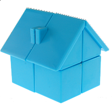 YJ House 2x2x2 - Blue Body - Rubik's Cube & Others