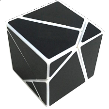 limCube Ghost Cube 2x2x2 DIY - White Body with Black labels - 2x2s