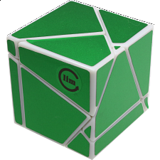 limCube Ghost Cube 2x2x2 DIY - White Body with Green labels - 2x2s