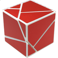 limCube Ghost Cube 2x2x2 DIY - White Body with Red labels - Rubik's Cube & Others