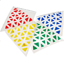 Professor Pyraminx Sticker Set - Meffert's Rotational Puzzles