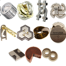 Group Special - a set of 11 Hanayama's NEW puzzles - Hanayama Metal Puzzles