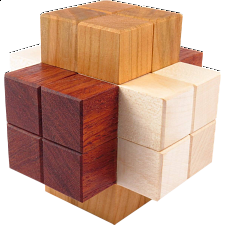Quad Slideways Burr - European Wood Puzzles