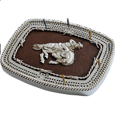 Cribbage Board - Bronco Buckle - New Items