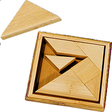 IQ-Test - Bamboo Tangram - Other Wood Puzzles