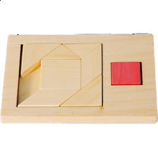 IQ-Test - Extra Piece: Square 3 - Other Wood Puzzles