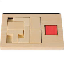 IQ-Test - Extra Piece: T-Square 2 - Other Wood Puzzles