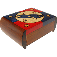 Moon & Stars Puzzle Box - Wooden Puzzle Boxes