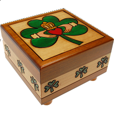 Claddaugh Puzzle Box - Wooden Puzzle Boxes