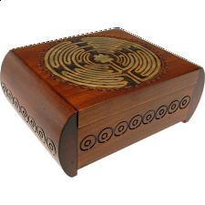 Carved Trick Box - Wood Puzzles