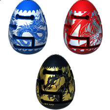 Group Special - A Set of 3 Smart Egg 2-Layer Labyrinth Puzzles - Maze Puzzles