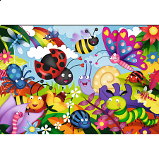 Cute Bugs - Super Sized Floor Puzzle - 1-100 Pieces