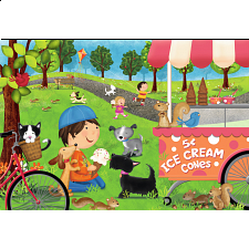 Dogs Love Ice Cream - Super Sized Floor Puzzle - 1-100 Pieces
