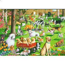 At the Dog Park - Large Piece Format - 500-999 Pieces