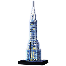 Ravensburger 3D Puzzle Night Edition - Chrysler Building -