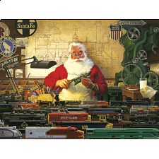 Santa and his Trains - 500-999 Pieces