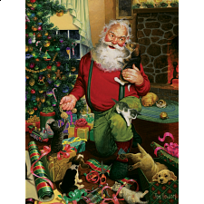 Santa's Cats and Dogs - 500-999 Pieces