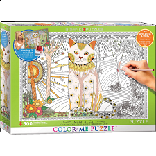 Color-Me Puzzle - Magical Cat - 500-999 Pieces