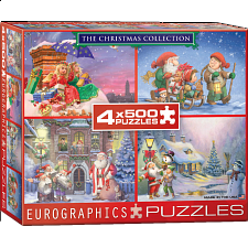 The Christmas Collection - 4 x 500 Piece Puzzles - 500-999 Pieces