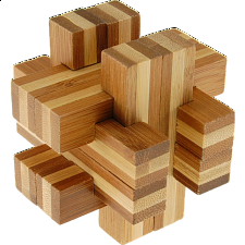 Bamboo Wood Puzzle - Cross Roads - Other Wood Puzzles