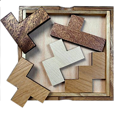 Five Fit with Cover - Other Wood Puzzles