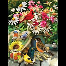 Garden Birds - Large Piece -