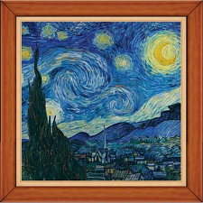 Masterpieces Starry Night World's Smallest with Frame Puzzle - 101-499 Pieces