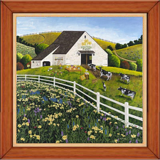 Daisy Field Farm - Framed Mini Puzzle - 101-499 Pieces