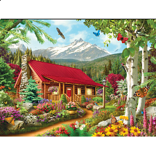 Memory Lane - Mountain Hideaway - EZ Grip Large Piece Puzzle - 101-499 Pieces