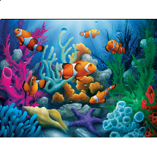 Tropics - Here Come the Clowns - EZ Grip Large Piece Puzzle - 101-499 Pieces