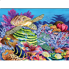 Tropics - Sea Turtle Cove - EZ Grip Large Piece Puzzle - Jigsaws