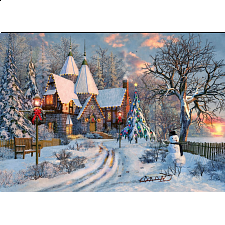 EuroGraphics Christmas Cottage Puzzle (1000 Piece) - 1000 Pieces