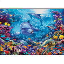 Dolphins At Play - 1000 Pieces