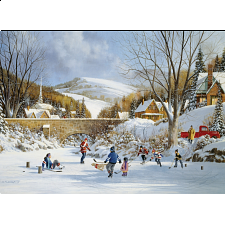 Hockey On Frozen Lake - 1000 Pieces
