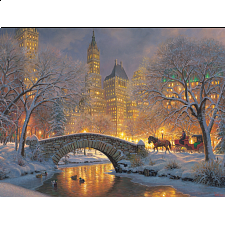 Winter In The Park - Large Piece -