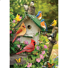 Singing Around The Birdhouse - Tray Puzzle - 1-100 Pieces