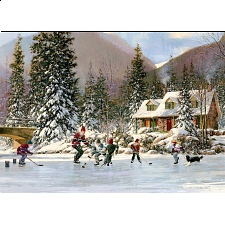 Hockey Pond - Tray Puzzle - 1-100 Pieces