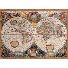 Antique World Map - 1000 Pieces