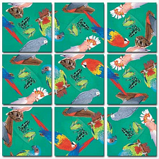 Scramble Squares - Parrots -