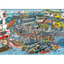Jan van Haasteren Comic Puzzle - Sea Port - 500-999 Pieces