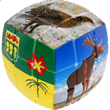 V-CUBE 3 Pillow (3x3x3): Saskatchewan - Rubik's Cube & Others