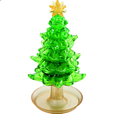 3D Crystal Puzzle Deluxe - Christmas Tree - Plastic Interlocking Puzzles