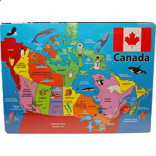 Canada: Wooden Tray Puzzle - 1-100 Pieces
