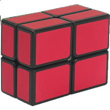 2x2 Windmill Cube Black Body in Red Stickers - Other Rotational Puzzles