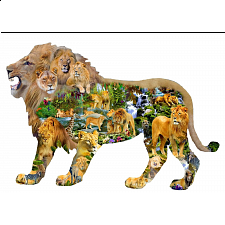 Lion's Roar - Shaped Jigsaw Puzzle - Shaped